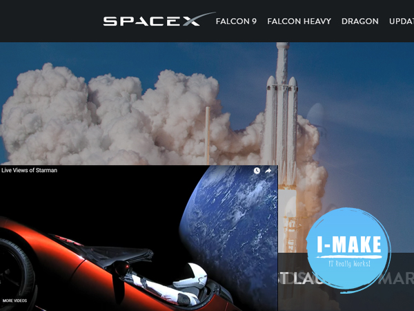 SpaceX sent a Tesla car to the space, Beyond and infinity!!!