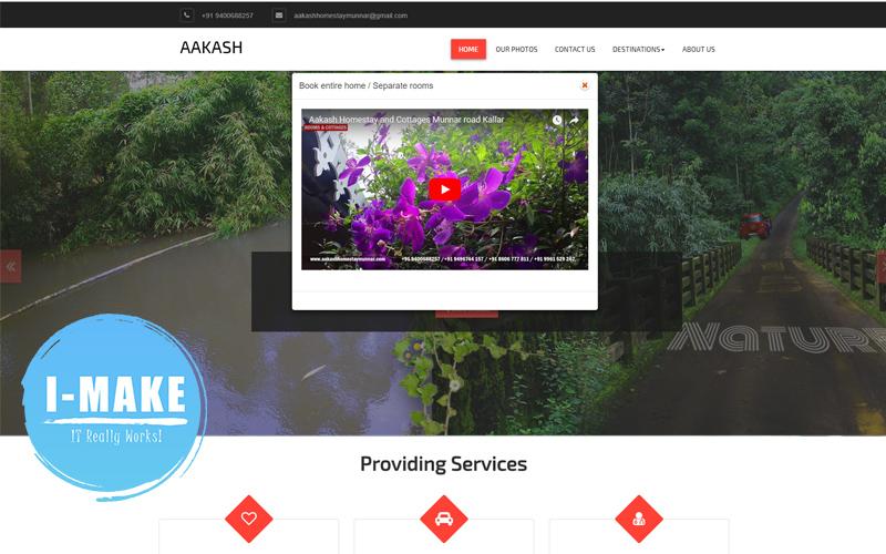 AAKASH Homestay Munnar Website Developed