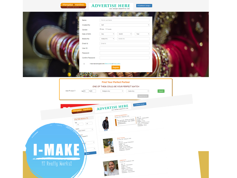 Matrimonial Website Developed for Mr. Santhosh George