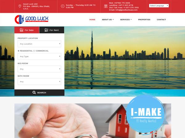 Good Luck UAE, Website developed
