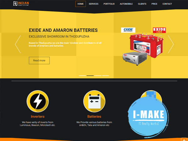 Indian Batteries Thodupuzha Website to its 3rd year